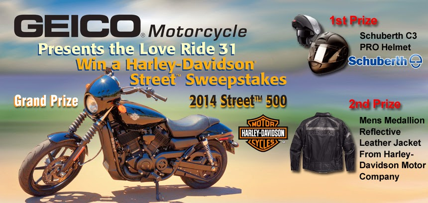 GEICO Motorcycle Love Ride 31 Sweepstakes