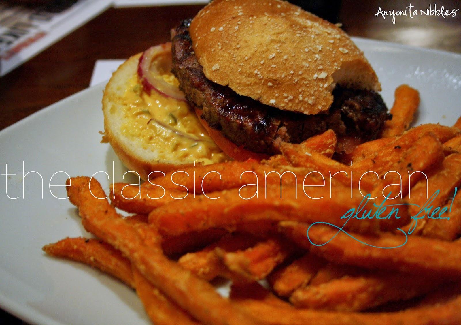 TGI Friday's Gluten Free, Classic American burger