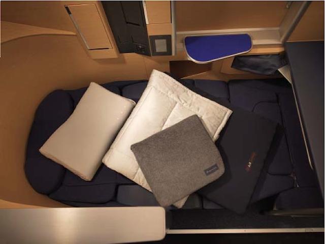 New ANA First Class bedding