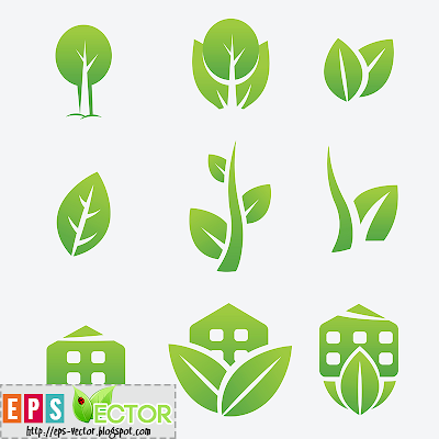 [Vector] - Green Eco icons