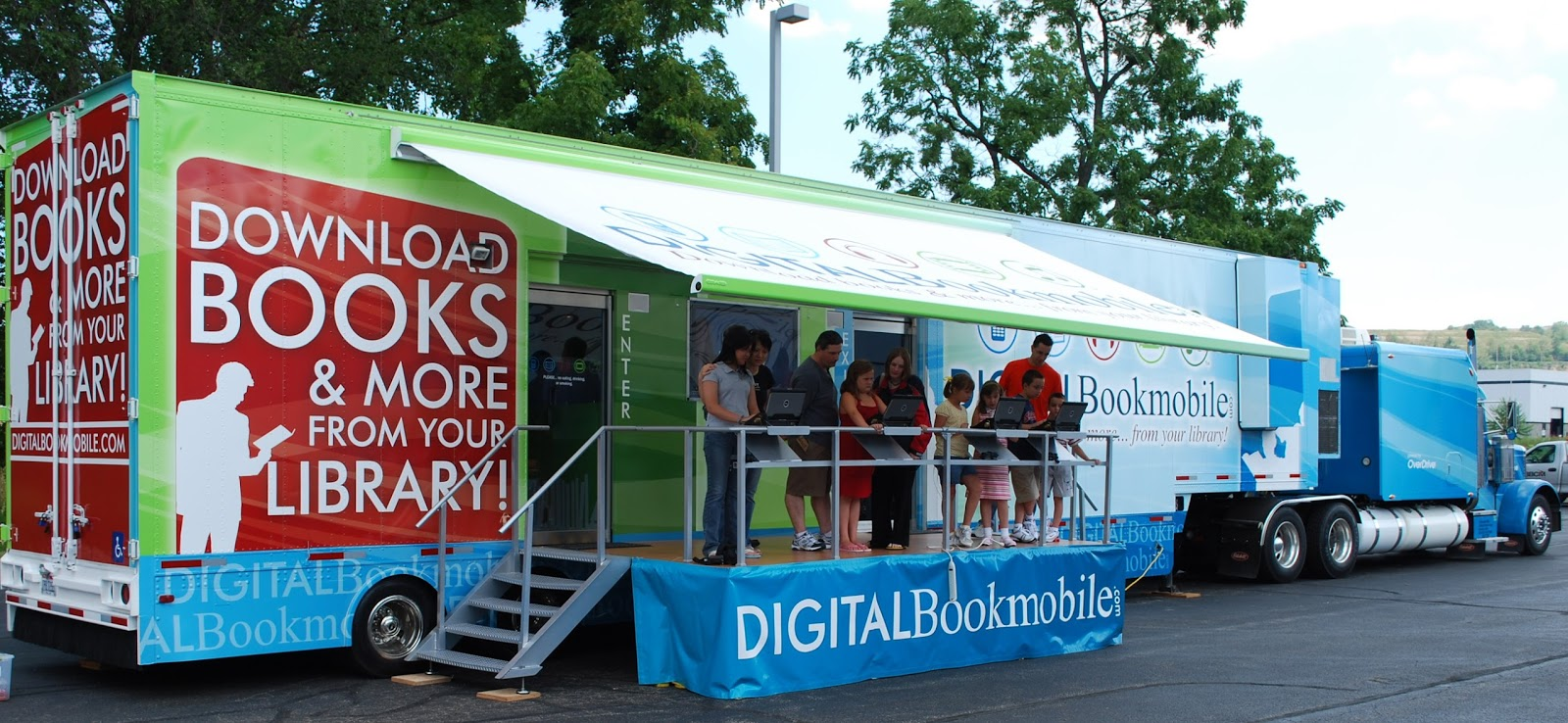 photo of digital bookmobile