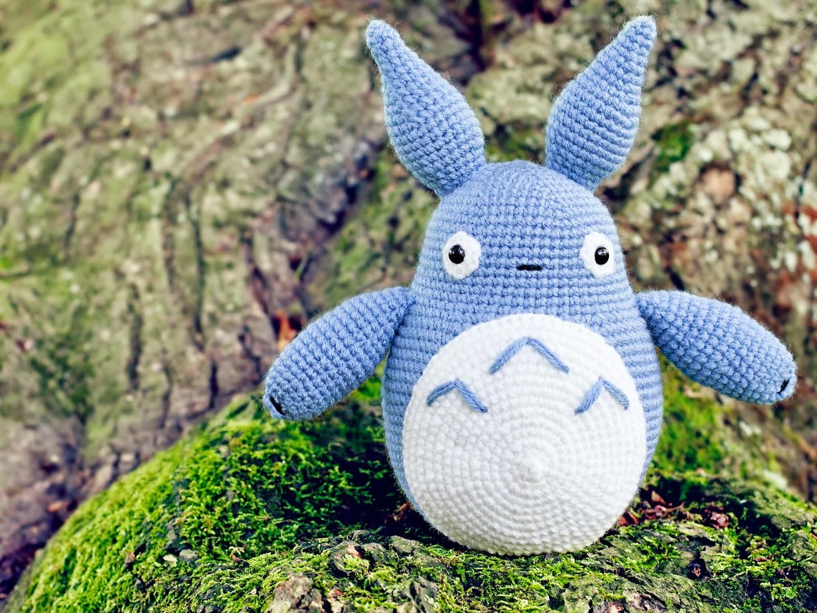 Totoro Azul Amigurumi : Amigurumi totoro blanco kalulu for