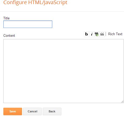 Configure html