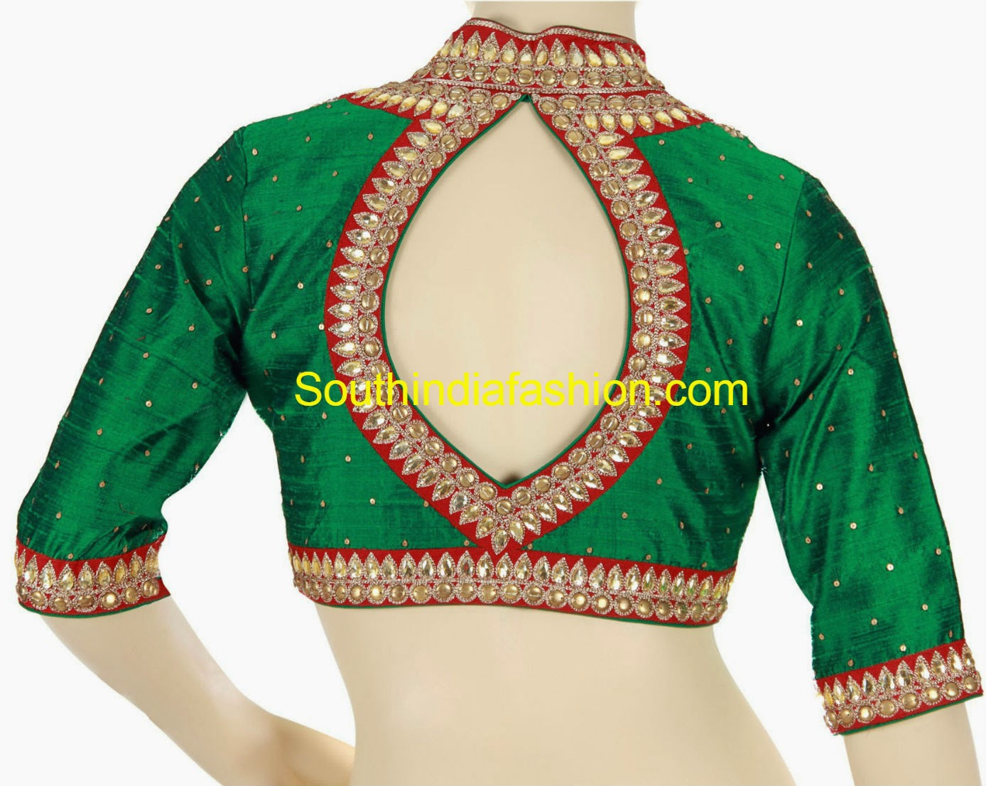 Stand Collar Neck Designs For Blouse : Moved permanently