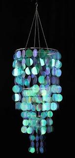 aqua tropical chandelier