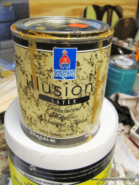 sherwin williams translucent gold glaze