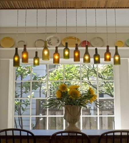 Wine Bottle Chandelier DIY 450 x 500