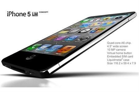 """Chiêm ngưỡng thiết kế iPhone 5 siêu """"sexy"""""""