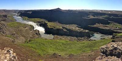 Waterfall below Dettifoss. Iceland