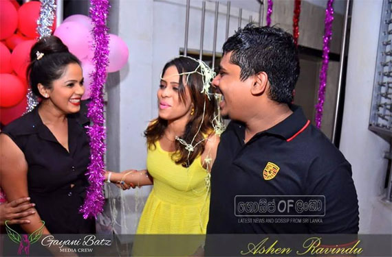 Actress Menaka Maduwanthi surprise Birthday Celebration
