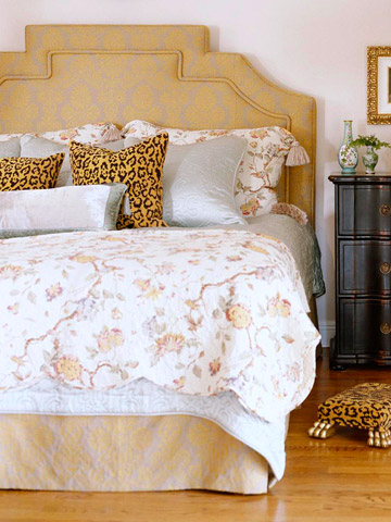 stylish upholstered headboards decorating ideas 2012