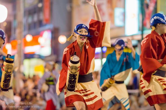 踊れ西八夏まつり、弐穂連の女性の提灯踊り