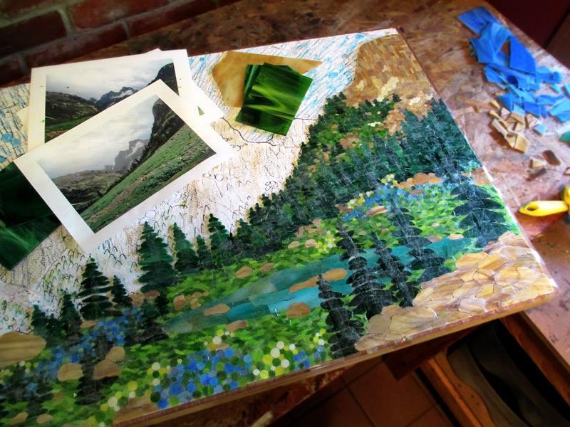 Kasia Mosaics Cascade Canyon Mosaic