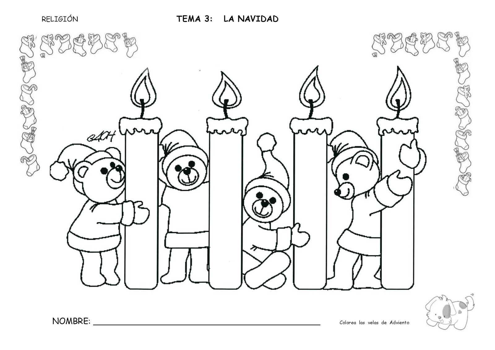 Hermosa Navidad Para Colorear Hojas Para Niños Adorno - Dibujos Para ...