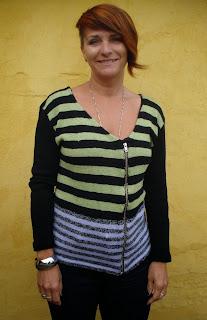 Vennens trøje strikket i Amigo