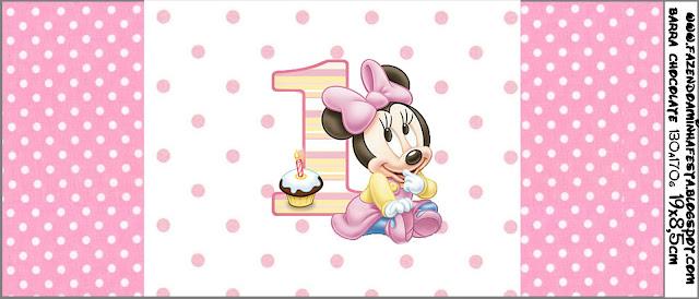Invitaciones de Minnie en su Primer Año para Imprimir Gratis ...
