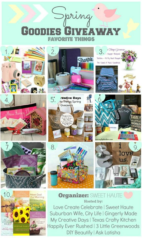 Enter to win one of 10 fabulous prize packs in this Favorite Things Giveaway | DIY beautify