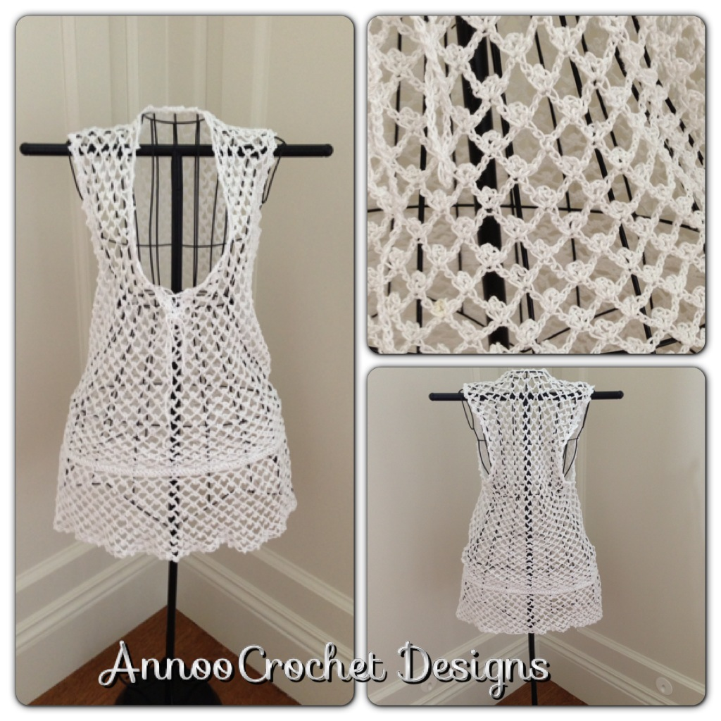 Annoos Crochet World Bermuda Beach Cover Up Free Pattern