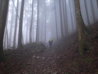 雲の中の山歩き