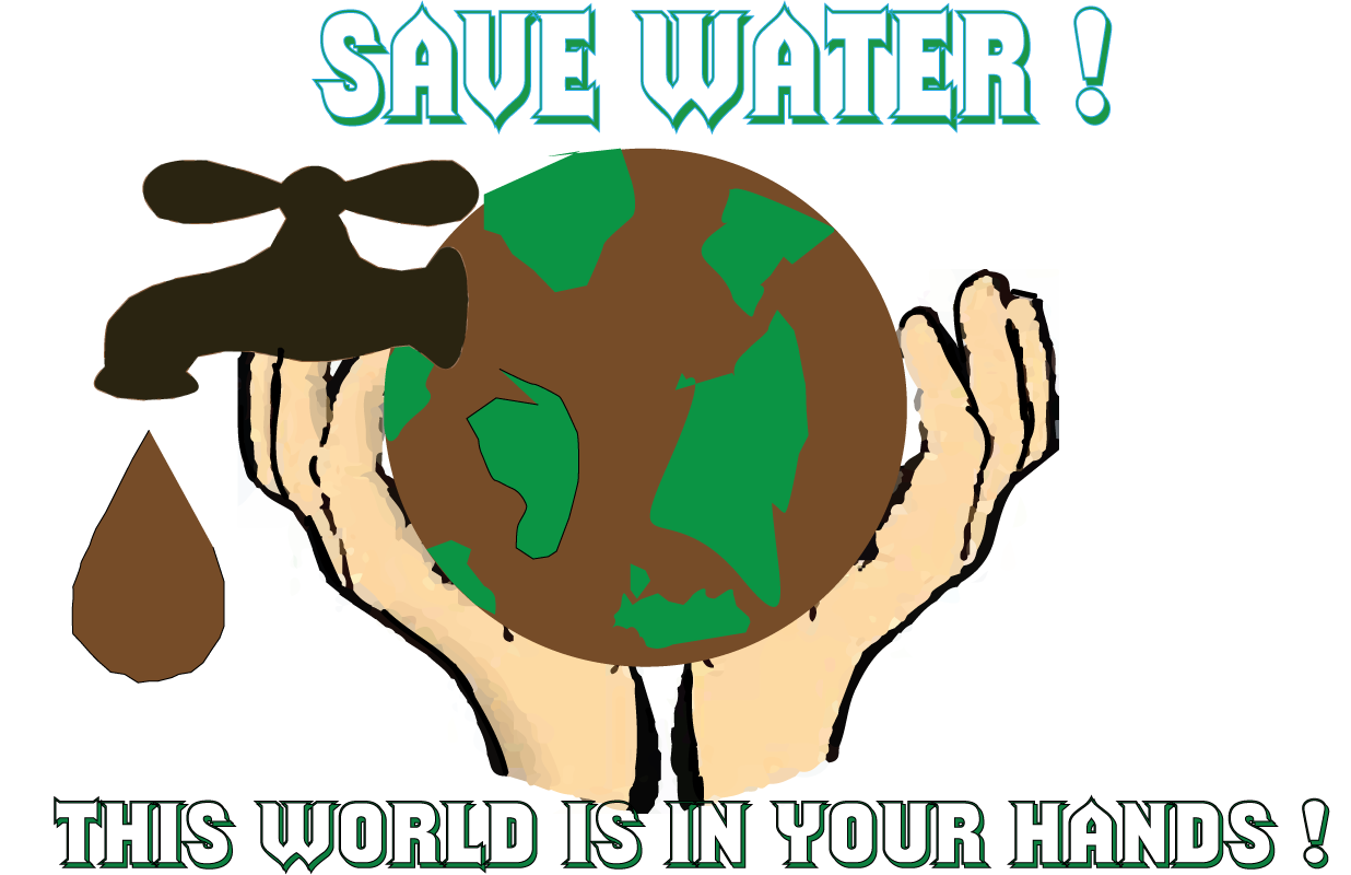 Graphics Save Water Psa Poster