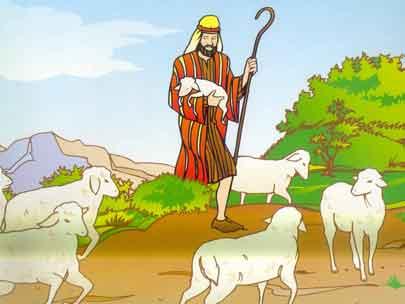 ... como el buen pastor que cuida a las ovejas pero debemos de tener en