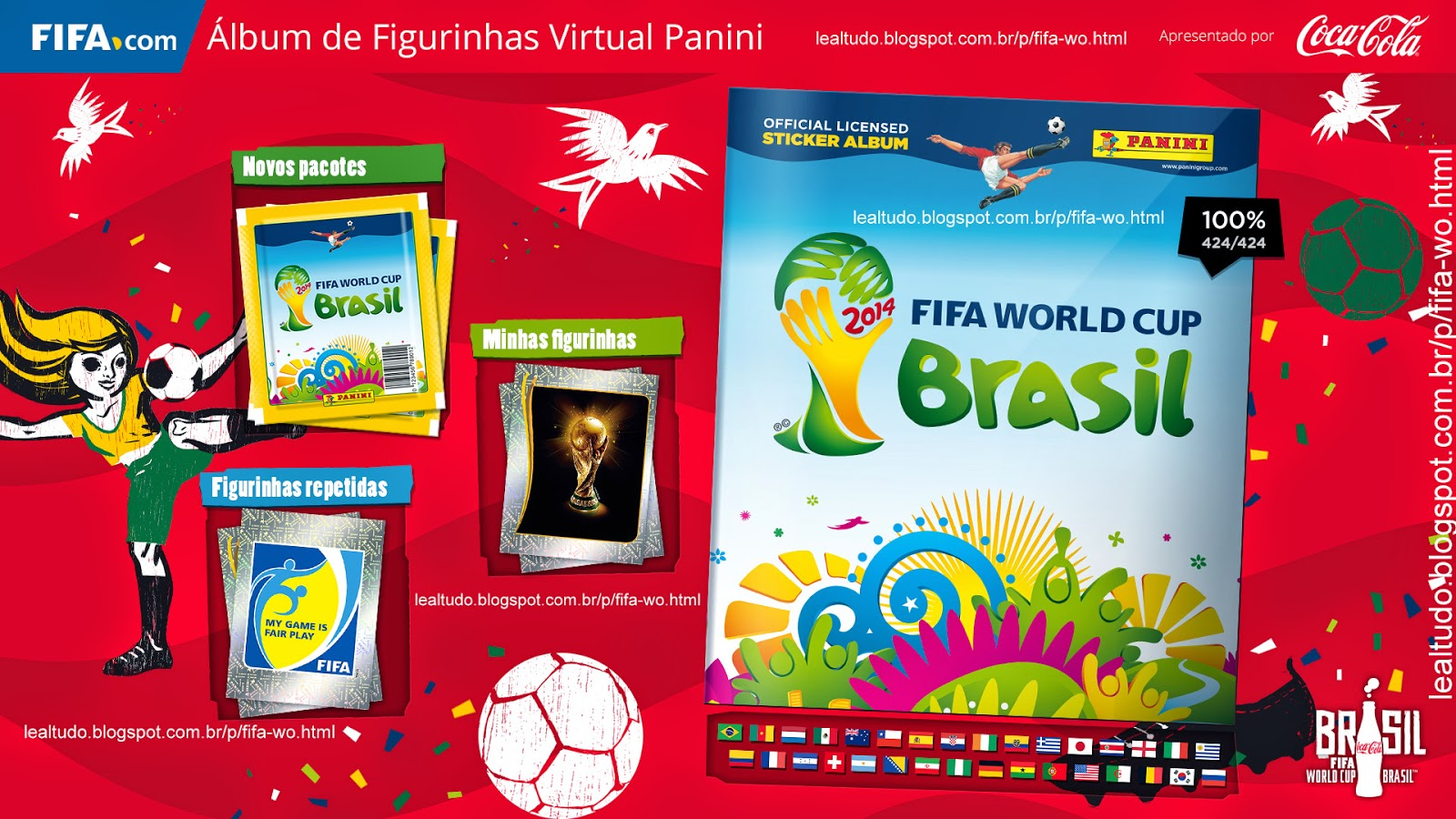 Album Wallpaper Screensaver Papel de Parede Fifa World Cup BRAZIL 2014 LIVE COPA DO MUNDO Sticker Figurinha Download Lealtudo