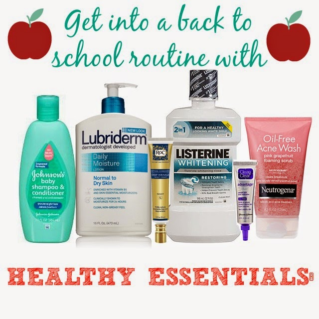 Getting into a back to school routine with Healthy Essentials® #Moms4JNJConsumer #ad