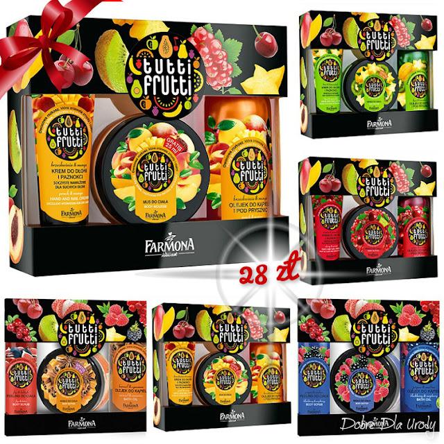 Świąteczne zestawy Farmona Tutti Frutti do ciała