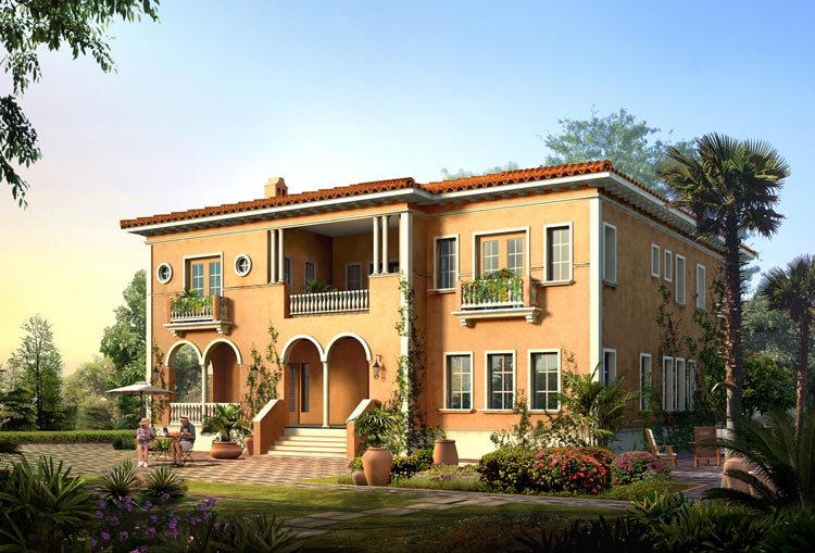 New home designs latest italian villas designs for Villa architecture design plans
