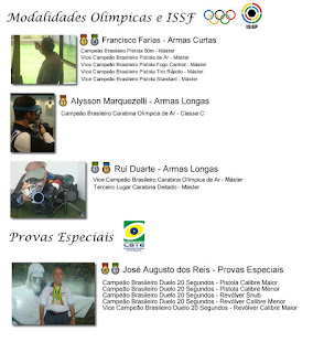 Quadro de medalhas - Atiradores maranhenses - Campeonato Brasileiro de Tiro Esportivo