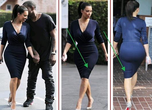 kim kardashian fake butt
