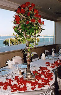Tall Rose Wedding Centerpieces
