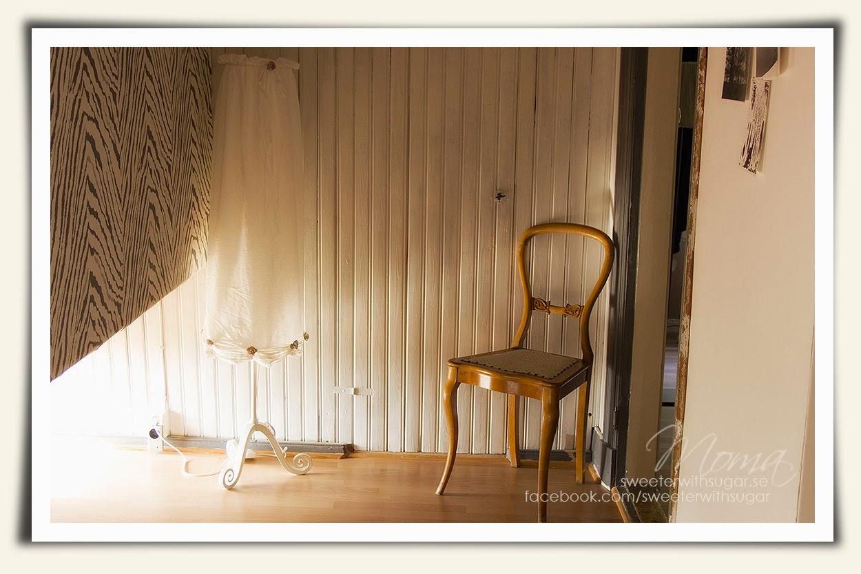 IKEA lampa, Lyrik golvlampa, loppis, stol