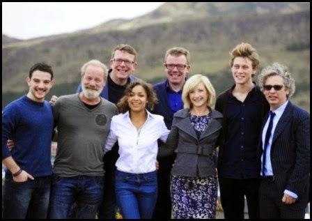 El equipo de 'Amanece en Edimburgo' (Dexter Fletcher, 2013)