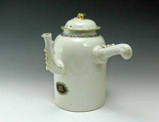 18th C. Chinese export Chocolate pot