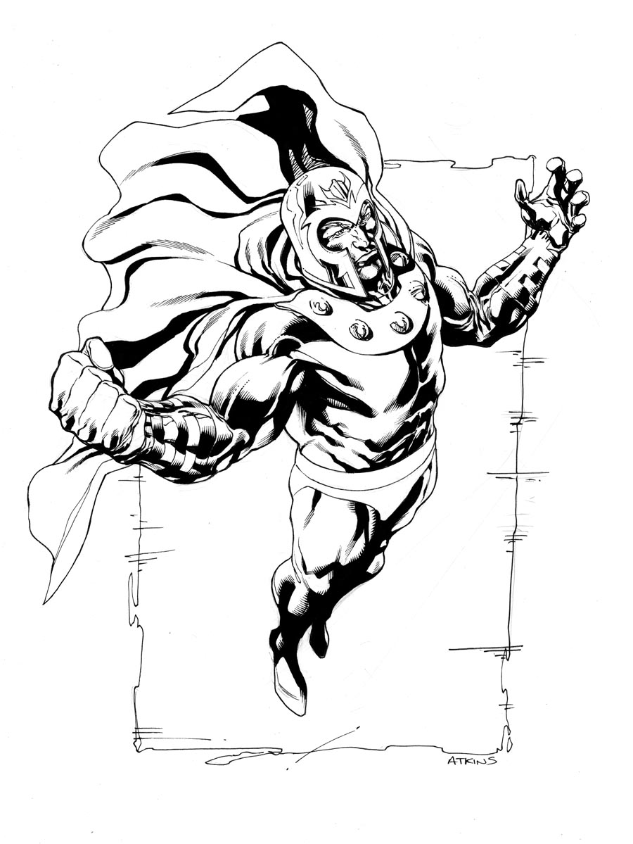 Robert atkins art september 2011 for Magneto coloring pages