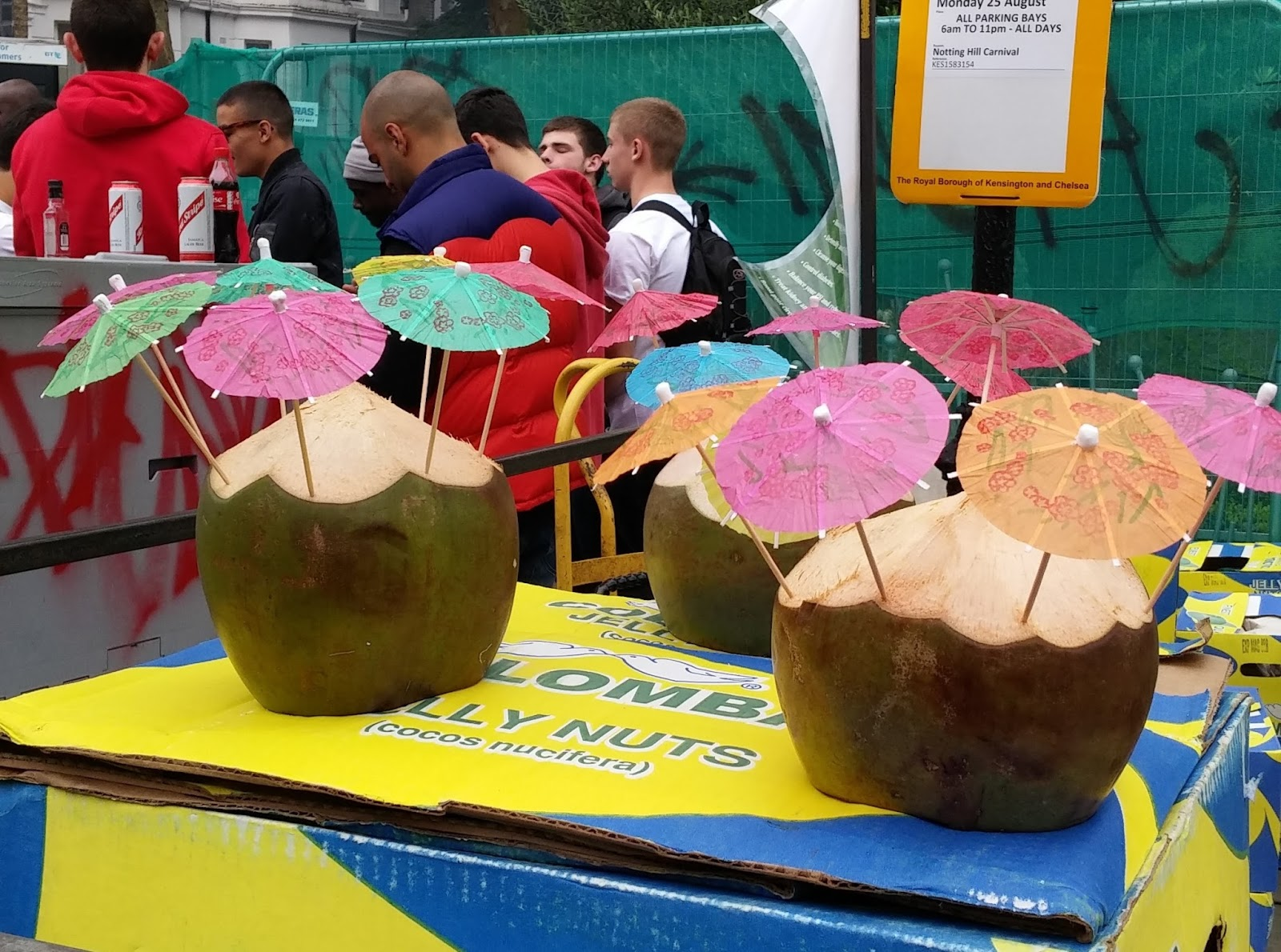 Notting Hill Carnival coconuts