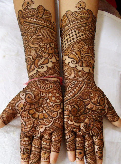 latest design of mehndi on eid