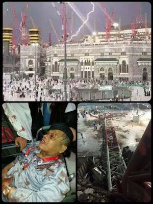 musibah jatuhnya crane di masjidil Haram Makkah al Mukarramah