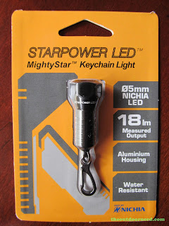 StarPower MightyStar Keychain Flashlight - Front of Package