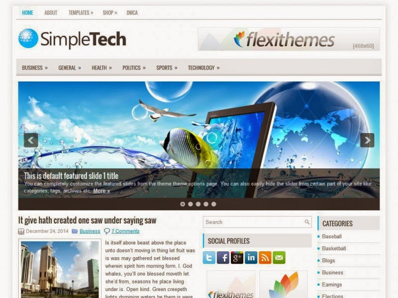 SimpleTech - Free Wordpress Theme