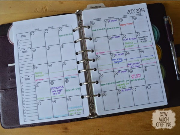 Month on Two Pages {{Planner Organization}}