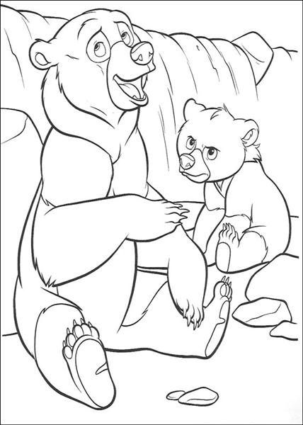 Brother bear coloring pages learn to