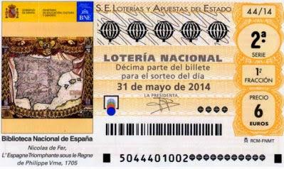 sorteo  de la Lotería Nacional del sábado 31 de mayo de 2014
