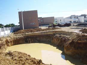 ¡Se hunde el terreno del centro tecnológico de San Luis!