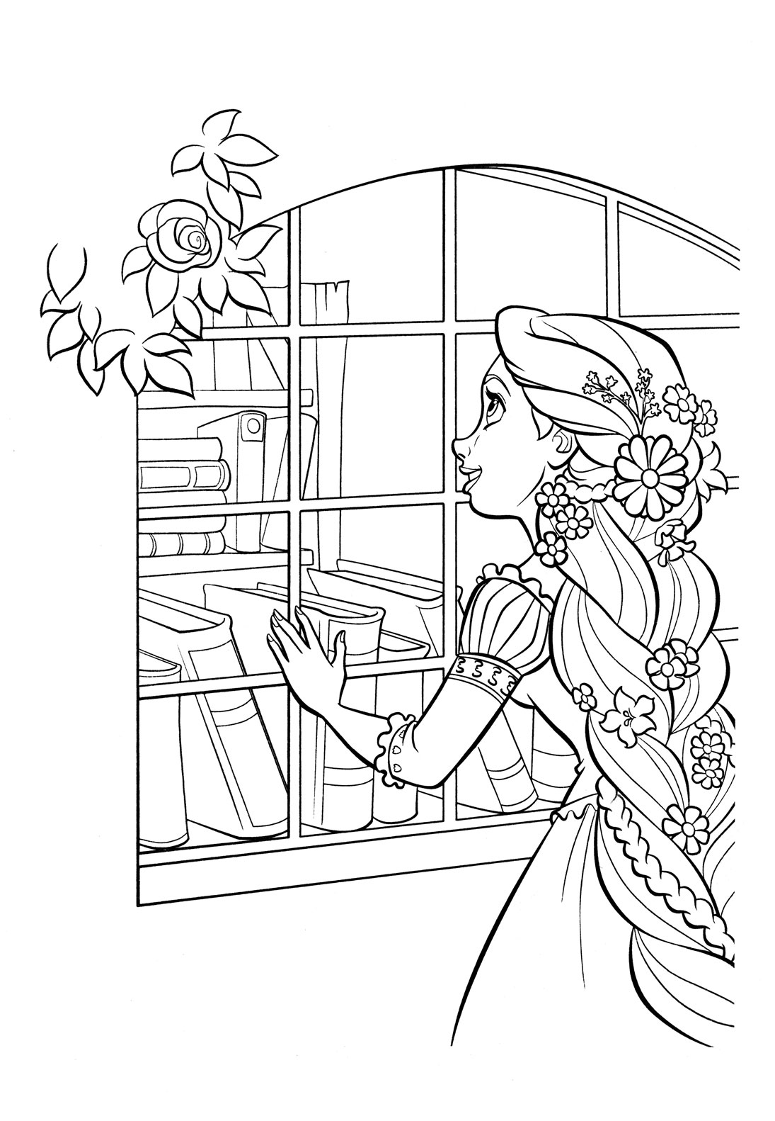 tangled coloring pages disney - photo#39