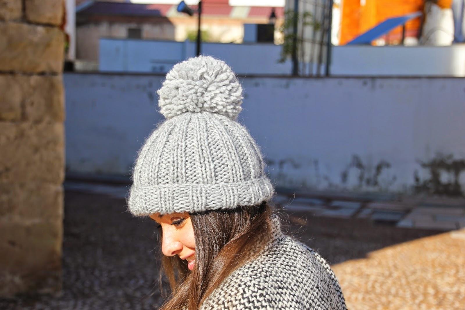 DIY Cómo hacer gorro de lana dos agujas (patrón gratis) blog de costura y blog diy