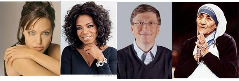 mother teresa and oprah winfrey as influential humanitarians Only being a woman is the most influential thing in this whole universe, without them we could not imagine how our life would be from a caring mom to a supporting wife they have always played a significant role in our life.