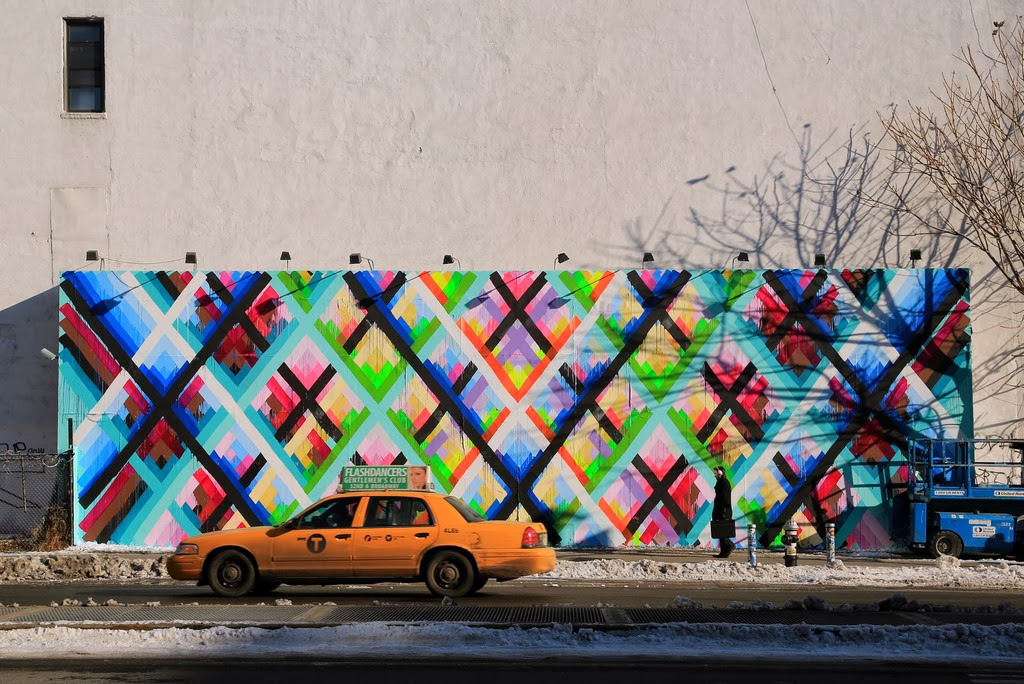 Maya hayuk new mural houston bowery new york city for Bowery mural nyc