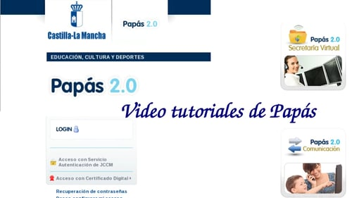 VIDEO TUTORIALES SOBRE PAPAS2.0